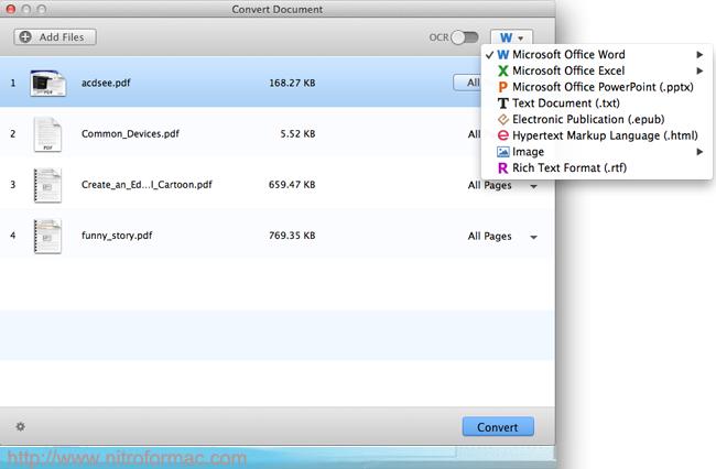 Nitro for Mac - Edit and Convert PDF Files on Mountain Lion